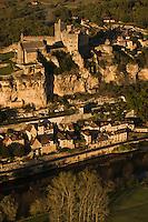 Europe/France/Aquitaine/24/Dordogne/Vallée de la Dordogne/Périgord Noir/Beynac-et-Cazenac: le Château et le village -Vue aérienne