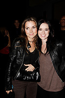 Gabrielle Destroismaisons (L) and Andree Watters (R) are  among the Quebec celebrities attending the Crystal Film red carpet reception at Opera ;   Montreal's new nightclub<br /> September 1st 2006