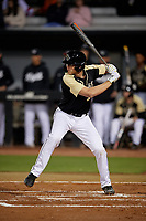 UCF Knights Connor Allen (39) bats during a game against the Siena Saints on February 14, 2020 at John Euliano Park in Orlando, Florida.  UCF defeated Siena 2-1.  (Mike Janes/Four Seam Images)