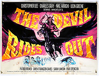 BNPS.co.uk (01202) 558833. <br /> Pic: Ewbank'sAuctions/BNPS<br /> <br /> Pictured: This poster for The Devil Rides Out sold for £690. <br /> <br /> A selection of classic horror and sci-fi film posters have sold for £85,000.<br /> <br /> The marquee lot was a British quad 30ins by 40ins poster for Forbidden Planet which fetched £12,000, three times its estimate.<br /> <br /> It features the memorable first image of Robby the Robot holding a damsel in distress.<br /> <br /> A poster promoting the Christopher Lee film Dr Terror's House of Horrors (1965) also outperformed expectations, selling for £2,750, while one advertising the first Star Wars film (1977) fetched £4,750.<br /> <br /> The posters, which were consigned by different collectors, sparked a bidding war with Ewbank's Auctions, of Woking, Surrey.