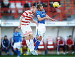 Hamilton Accies v St Johnstone...31.10.15  SPFL  New Douglas Park, Hamilton<br /> David Wotherspoon and Ziggy Gordon<br /> Picture by Graeme Hart.<br /> Copyright Perthshire Picture Agency<br /> Tel: 01738 623350  Mobile: 07990 594431