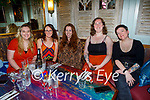 Enjoying the evening in Benners on Friday, l to r: Leah Herrick, Claire Noonan, Triona Egan Brick, Sally Griffin and Rachel Percy.
