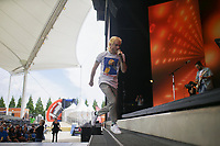 Walk the Moon performs, Friday, June 4, 2021 during the annual Walmart Associate Celebration at the Arkansas Music Pavilion in Rogers. Walmart held their associates meeting mostly virtually with a small celebration in person at the AMP. Check out nwaonline.com/210605Daily/ for today's photo gallery. <br /> (NWA Democrat-Gazette/Charlie Kaijo)
