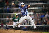 West Michigan Whitecaps relief pitcher Oswaldo Castillo (22) delivers a pitch during a game against the Fort Wayne TinCaps on May 17, 2018 at Parkview Field in Fort Wayne, Indiana.  Fort Wayne defeated West Michigan 7-3.  (Mike Janes/Four Seam Images)