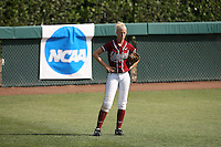 18 May 2007: Stanford Cardinal Jackie Rinehart during Stanford's 3-0 win against the Cal State Northridge Matadors in the 2007 NCAA Softball Regionals at Boyd & Jill Smith Family Stadium in Stanford, CA.