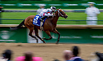 LOUISVILLE, KY - MAY 04: Mia Mischeif #3, ridden by Ricardo Santana, Jr. wins the Eight Belles on Kentucky Oaks Day at Churchill Downs on May 4, 2018 in Louisville, Kentucky. (Photo by Mary Meek/Eclipse Sportswire/Getty Images)