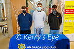 CBS students Padraig Crean, Michael Kirby and Mike Carroll winners of the National Garda Youth Achievement Award for Community Safety, received their award at the school on Monday.