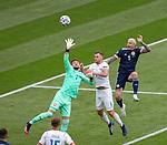 14.06.2021 Scotland v Czech Republic:  Tomas Vaclik saves from Lyndon Dykes