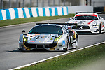 Spirit of Race, #38 Ferrari 488 GT3, driven by Narsat Muzayyin, Rui Aguas and Marco Cioci in action during the 2016-2017 Asian Le Mans Series Round 1 at Zhuhai Circuit on 30 October 2016, Zhuhai, China.  Photo by Marcio Machado / Power Sport Images