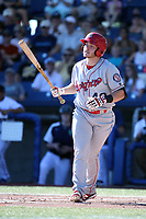 Matt Whatley (40) of the Spokane Indians bats against the Hillsboro Hops at Ron Tonkin Field on July 22, 2017 in Hillsboro, Oregon. Spokane defeated Hillsboro, 11-4. (Larry Goren/Four Seam Images)