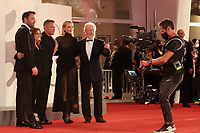 """Venice, Italy - September 10: Ben Affleck, Nicole Holofcener, Matt Damon, Jodie Comer and Ridley Scott attend the Red Carpet of 20th Century Studios' movie """"The Last Duel"""" during the 78th Venice International Film Festival on September 10, 2021 in Venice, Italy. <br /> CAP/MPI/AF<br /> ©AF/MPI/Capital Pictures"""