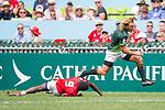 South Africa vs Kenya during their Pool B match as part of the HSBC Hong Kong Rugby Sevens 2017 on 08 April 2017 in Hong Kong Stadium, Hong Kong, China. Photo by Marcio Rodrigo Machado / Power Sport Images