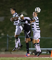 Number 8 ranked Charlotte beats number 16 ranked Coastal Carolina 1-0 on a goal by Thomas Allen in the 101st minute during the second overtime.  Pedro Ribeiro (10), Alan Kirkbride (8)