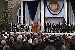 """Spring Creek High School student Elizabeth Armstrong reads her """"Nevada the Beautiful"""" poem during the inauguration at the Capitol, in Carson City, Nev., on Monday, Jan. 5, 2015.<br /> Photo by Cathleen Allison"""