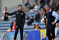 11th September 2021; Ewood Park, Blackburn, Lancashire England; EFL Championship football, Blackburn Rovers versus Luton Town; Luton Town manager Nathan Jones reacts after the fourth official Andy Haynes replaces the injured referee Oliver Langford