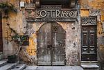 A rustic old door in Valletta, Malta