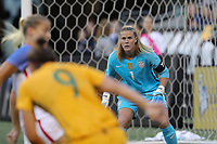 Seattle, WA - Thursday July 27, 2017: Alyssa Naeher during a 2017 Tournament of Nations match between the women's national teams of the United States (USA) and Australia (AUS) at CenturyLink Field.