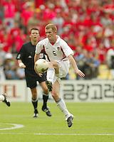 John O'Brien traps the ball. The USA tied South Korea, 1-1, during the FIFA World Cup 2002 in Daegu, Korea.