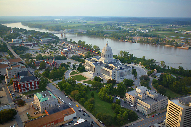 Jefferson City and Missouri River