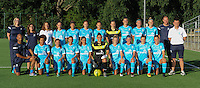 20160824 - GENT , BELGIUM : Gent's team pictured during a friendly game between KAA Gent Ladies and PSV Eindhoven during the preparations for the 2016-2017 season , Wednesday 24 August 2016 ,  PHOTO Dirk Vuylsteke   Sportpix.Be