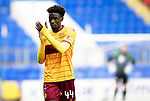 St Johnstone v Motherwell…28.09.19   McDiarmid Park   SPFL<br />Devante Cole applauds the fans<br />Picture by Graeme Hart.<br />Copyright Perthshire Picture Agency<br />Tel: 01738 623350  Mobile: 07990 594431