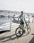 Fabio Jakobsen (NED) Deceuninck-Quick-Step assured of the Green Jersey with his custom painted Specialized Tarmac before the start of Stage 20 of La Vuelta d'Espana 2021, running 202.2km from Sanxenxo to Mos, Spain. 4th September 2021.    <br /> Picture: Charly Lopez/Unipublic | Cyclefile<br /> <br /> All photos usage must carry mandatory copyright credit (© Cyclefile | Unipublic/Charly Lopez)