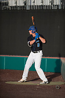 Sandra Day O'Connor Eagles third baseman Nolan Gorman (9) on deck during a game against Mountain Ridge High School at Brazell Field at GCU on April 19, 2018 in Glendale, Arizona. Mountain Ridge defeated Sandra Day O'Connor 2-1. (Zachary Lucy/Four Seam Images)