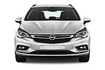 Car photography straight front view of a 2017 Opel Astra Sports Tourer Edition 5 Door Wagon