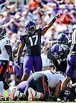 TCU Horned Frogs safety Sam Carter (17) in action during the game between the Virginia Cavaliers and the TCU Horned Frogs  at the Amon G. Carter Stadium in Fort Worth, Texas. TCU defeats Virginia 27 to 7...