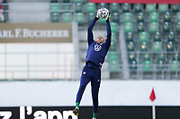 ST. GALLEN, SWITZERLAND - MAY 30: David Ochoa #27 of the United States warming up during a game between Switzerland and USMNT at Kybunpark on May 30, 2021 in St. Gallen, Switzerland.
