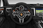 Car pictures of steering wheel view of a 2018 Porsche Macan Turbo 5 Door SUV