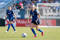 CARY, NC - SEPTEMBER 12: Denise O'Sullivan #8 of the NC Courage dribbles the ball during a game between Portland Thorns FC and North Carolina Courage at Sahlen's Stadium at WakeMed Soccer Park on September 12, 2021 in Cary, North Carolina.