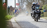 Later winner Yves Lampaert (BEL/Quick Step Floors) leads the front group up the Taaienberg<br /> <br /> 72nd Dwars door Vlaanderen 2017