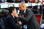 Pep Guardiola & Mauricio Pochettino.FC Barcelona vs RCD Espanyol: 4-0 - League BBVA 2011/12 - Game: 37.