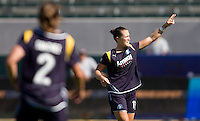 LA Sol's Brittany Bock celebrates her goal. The LA Sol defeated the Freedom of Washington 3-1 at Home Depot Center stadium in Carson, California on Sunday afternoon June 7, 2009.   .