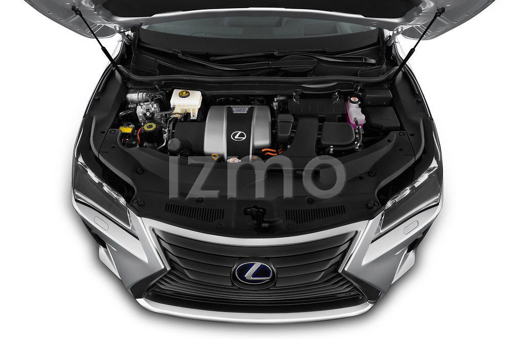 Car Stock 2019 Lexus RX Privilege-Line 5 Door SUV Engine  high angle detail view