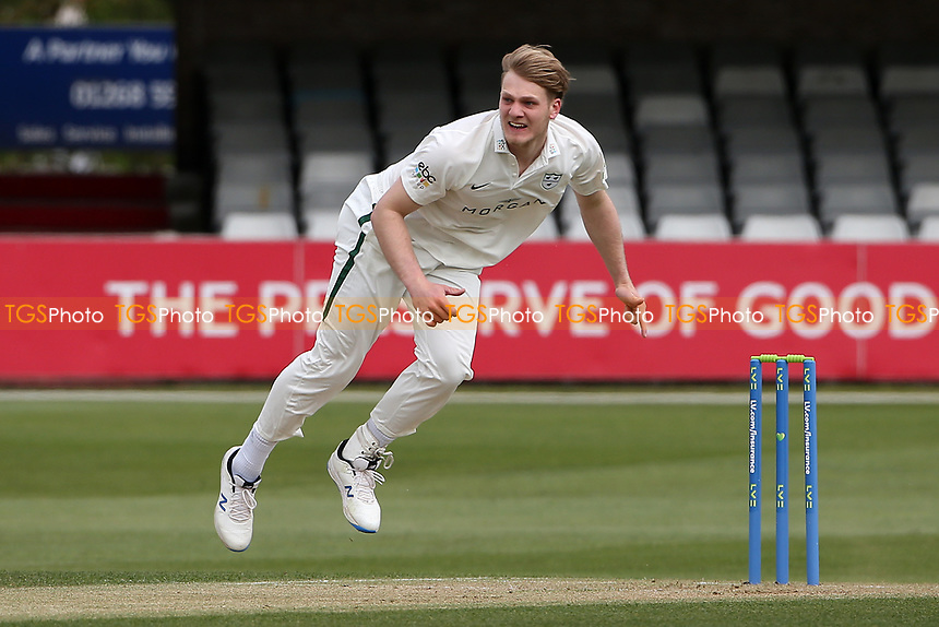 Dillon Pennington of Worcestershire in bowling action during Essex CCC vs Worcestershire CCC, LV Insurance County Championship Group 1 Cricket at The Cloudfm County Ground on 8th April 2021