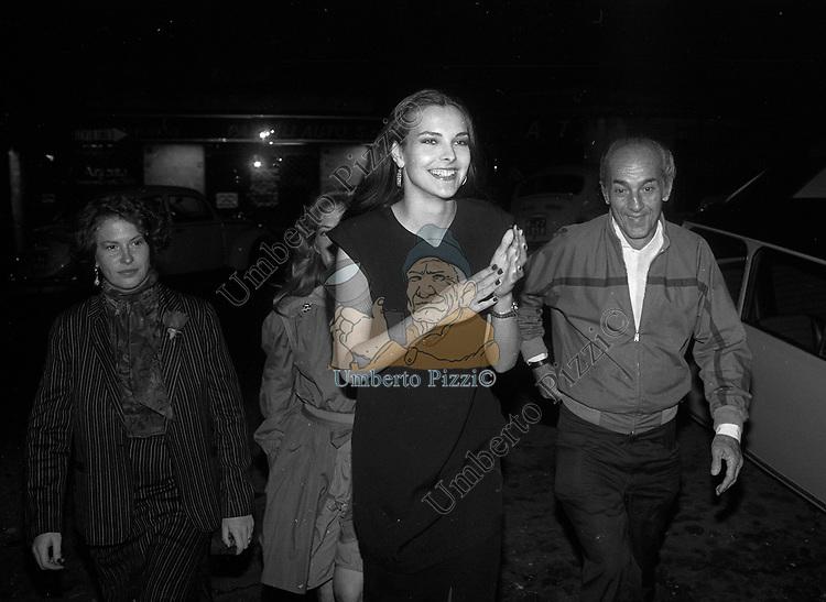CAROLE  BOUQUET CON DADO RUSPOLI<br /> FESTA PER I 10 ANNI DI PLAYBOY<br /> PIPER  CLUB ROMA 1980