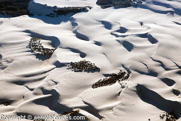 aerial photograph of dunes in the  Guadalupe-Nippomo dune system, San Luis Obispo County, California