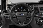 Car pictures of steering wheel view of a 2021 Ford Transit-Custom Trend 4 Door Cargo Van Steering Wheel