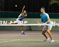 Rotterdam, The Netherlands, 3 march  2021, ABNAMRO World Tennis Tournament, Ahoy, First round doubles: Juan Sebastian Cabal (COL) / Robert Farah (COL).<br /> Photo: www.tennisimages.com/
