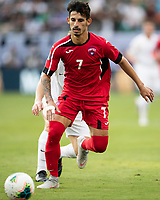 CHARLOTTE, NC - JUNE 23: Rolando Abreu #7 during a game between Cuba and Canada at Bank of America Stadium on June 23, 2019 in Charlotte, North Carolina.