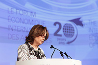 Helene Desmarais<br /> Chair of the Board of Directors, HEC MontrÈal, Chair of the Board and Chief Executive Officer, Centre díentreprises et díinnovation de MontrÈal (CEIM) and President of the Consultative and Strategic Orientation Board, Conference of Montreal<br /> attend the International Economic Forum of the Americas 20th Edition, from June 9-12, 2014 <br /> <br />  Photo : Agence Quebec Presse - Pierre Roussel