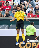 PHILADELPHIA, PA - JUNE 30: Michael Hector #3 during a game between Panama and Jamaica at Lincoln Financial Field on June 30, 2019 in Philadelphia, Pennsylvania.