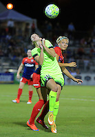 Boyds, MD - Wednesday Sept. 07, 2016: Manon Melis, Line Sigvardsen Jensen during a regular season National Women's Soccer League (NWSL) match between the Washington Spirit and the Seattle Reign FC at Maureen Hendricks Field, Maryland SoccerPlex.