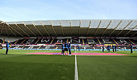 Watford players on the pitch before kick off during the Premier League match between Swansea City and Watford at The Liberty Stadium, Swansea, Wales, UK. Saturday 23 September 2017