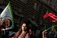 Manifestazione per la libertà di Ocalan e la pace in Medioriente