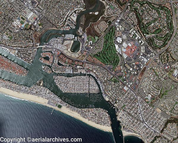 aerial map Newport Beach, Orange County, California