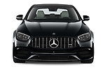 Car photography straight front view of a 2021 Mercedes Benz E-Class 63-S-AMG 4 Door Sedan Front View