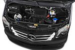 Car Stock 2016 Mercedes Benz Sprinter-Cargo-Van 2500-144-WB-High-Roof 4 Door Cargo Van Engine  high angle detail view